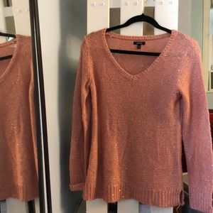 Apt. 9 Pink Sparkly Sweater, Size S